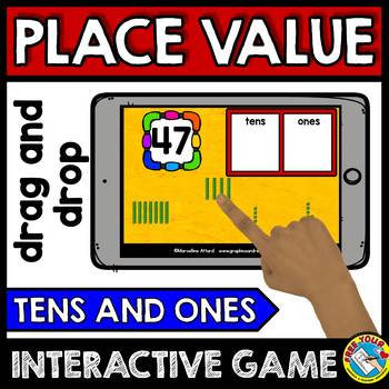 BOOM CARDS MATH PLACE VALUE GAME (BASE TEN BLOCKS DIGITAL CENTERS FOR MATH)