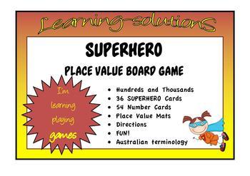 PLACE VALUE - Hundreds and Thousands - SUPERHERO Game - Australian Terminology