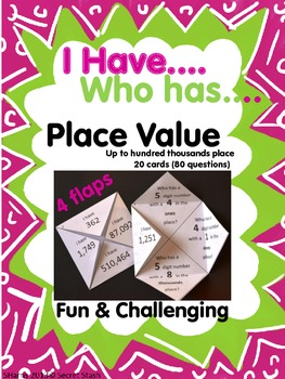 """PLACE VALUE """"I Have, Who Has"""" ~New Twist to Old Game!~"""