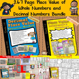 PLACE VALUE: MULTI-DIGIT WHOLE NUMBERS AND DECIMAL NUMBERS {COMMON CORE}