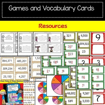 PLACE VALUE: WHOLE NUMBERS BUNDLE {Interactive Notebook and 264 Task cards}