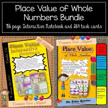 PLACE VALUE: WHOLE NUMBERS BUNDLE {Interactive Notebook an