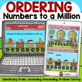 PLACE VALUE ORDERING NUMBERS BOOM DIGITAL CARDS GOOGLE CLASSROOM