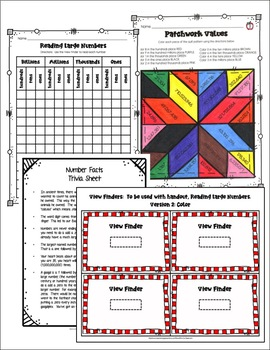 PLACE VALUE: READ / WRITE LARGE NUMBERS LESSON PLAN - Editable Parts & Google