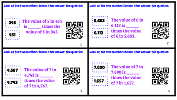 PLACE VALUE RELATIONSHIPS QR CODES 10 TIMES BIGGER