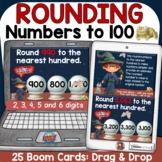PLACE VALUE ROUNDING NUMBERS TO 100 BOOM DIGITAL TASK CARD