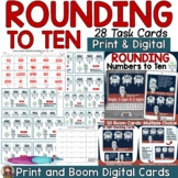 PLACE VALUE ROUNDING NUMBERS TO TEN PRINT & DIGITAL TASK C