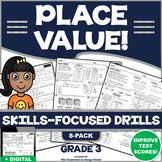 3RD GRADE PLACE VALUE: 8 Skills-Boosting Practice Worksheets/Test Prep