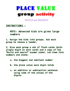 PLACE VALUE WORKSHEETS FOR 3RD GRADE