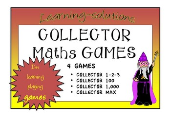 PLACE VALUE and NUMBER FACTS - COLLECTOR - 4 Board Games