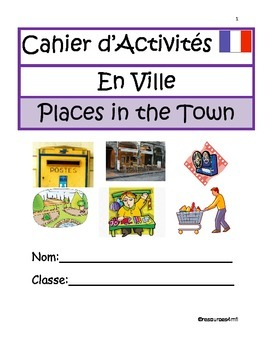 FRENCH BOOKLET- Places in the Town