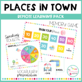 PLACES IN TOWN - Remote learning pack
