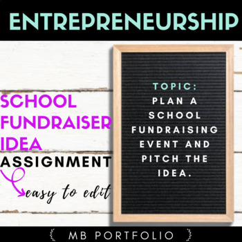 BUSINESS - Plan a School Fundraiser Event Assignment in Entrepreneurship
