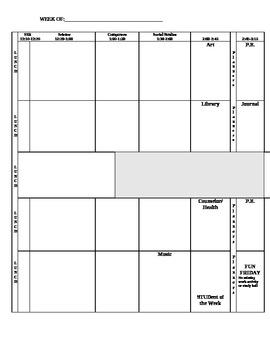 TEACHER editable PLAN BOOK