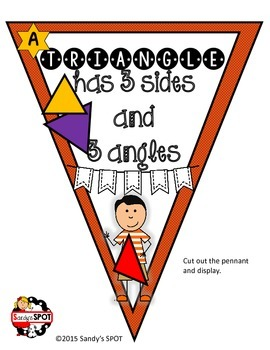MATH PENNANT PLANE AND SOLID FIGURES BANNER AND BULLETIN BOARD