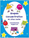 PLANE SHAPES CONCENTRATION!  A Shapes Matching Game!