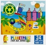 """PLANETPALS """"A Day  at the Beach"""" PUZZLE 24 piece"""