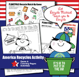 America Recycles Day Coloring & Game Recycle Kit Set USA Flag Activity