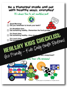 Be Healthy Eating Checklist Classroom Nutrition Health Activity