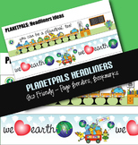 Eco Friendly 3 Borders Set  Earthday Everyday Messages for