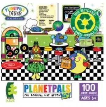 """PLANETPALS """"Healthy Diner"""" Recycled PUZZLE 100 Piece"""