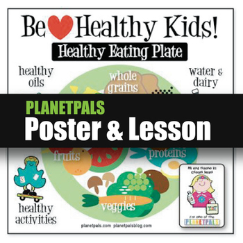 Healthy Food Plate Lesson Bulletin Board POSTER Food Science Learning