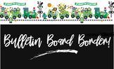 Green Train Classroom Borders for Earthday and Eco Friendly Themes