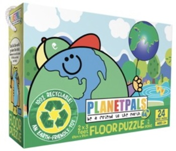 "PLANETPALS ""Be A Pal"" Large Floor PUZZLE 2-sided Preschool 24 piece"