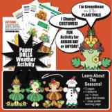 Halloween 4 Seasons Activity Paper Doll Set Changes 2 Summer Fall Winter Spring