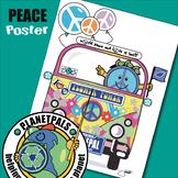 Peace Lesson Bulletin Board Poster World Peace, Tolerance, Love