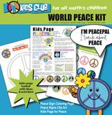 PeacePal Peace Activity Bundle Color Peace Sign Clip Art Kids Page Lesson Plan