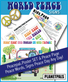 World Peace Classroom Poster Set & Activity Page PeacePal Teaches Love