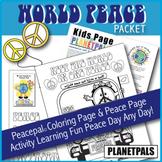 World Peace Day Activity Set & Coloring Bundle PeacePal Te
