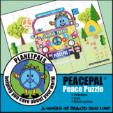 Peace & Love Activity Classroom Puzzle Cut Play Learn with Peace Pal