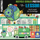 Recycle Center Lesson Bulletin Board POSTER Earthday / Environment Bundle