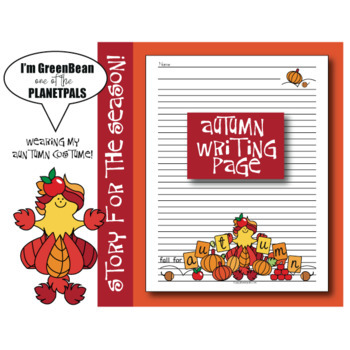 Seasonal Autumn Writing Page Coloring Sheet Earth Science Activity & Poem