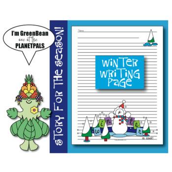 Seasonal Winter Writing Page Coloring Sheet Earth Science Activity & Poem