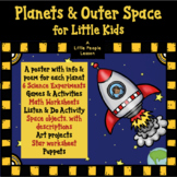 PLANETS & OUTER SPACE FOR LITTLE KIDS, Science Experiments, Math, Activities