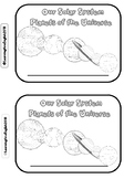 PLANETS OF THE UNIVERSE - OUR SOLAR SYSTEM MINI BOOK - cut