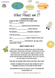 PLANETS - WHAT PLANET AM I? MYSTERY POEM