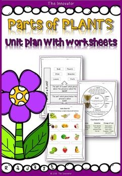 PLANT Parts – Unit Plan with Worksheets