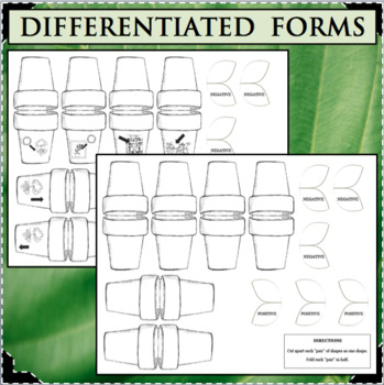 PLANT TROPISMS Interactive Flip Notes Differentiated Life Science Biology Plants