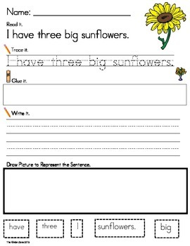 PLANT UNIT PHONICS SENTENCE BUILDING * READ.TRACE.BUILD.WRITE IT!!!