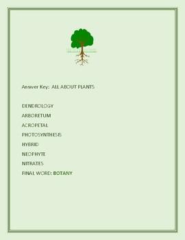 PLANTS: A VOCABULARY JUMBLE