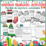 PLANTILLAS DE ESCRITURA NAVIDAD. CHRISTMAS WRITING TEMPLATES. FOLDABLE TEMPLATES