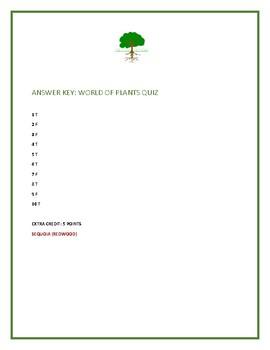 PLANTS: A TRUE/ FALSE QUIZ: A FUN CHALLENGING QUIZ