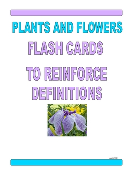 PLANTS AND FLOWERS FLASHCARDS