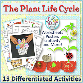 PLANTS LIFE CYCLE Science Unit - Craftivity, Posters, Work