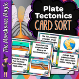 Plate Tectonics Science Card Sort, Vocabulary Activity, Word Wall