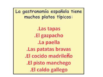 PLATOS TIPICOS  DE ESPANA